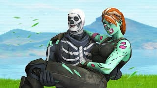 She has a BIGGER Skill but I CARRIED Her (Fortnite)