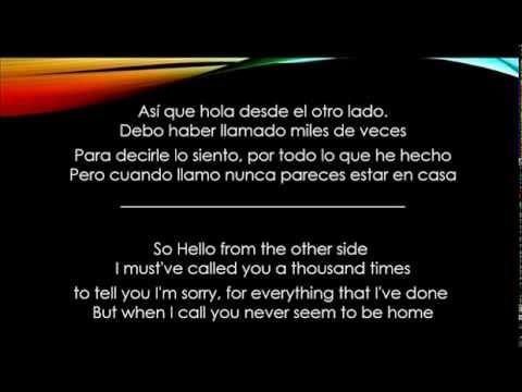 Hello - Adele - Letra Español/Ingles