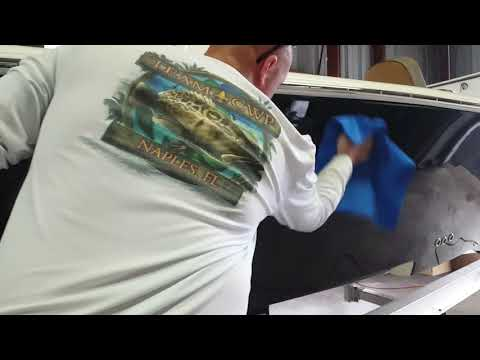How to apply ceramic coating on a boat