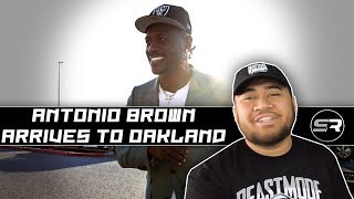 Antonio Brown arrives to Oakland | REACTION