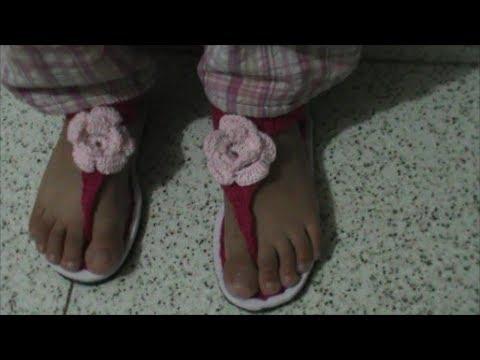 Como Hacer unas Sandalias en Crochet Facil