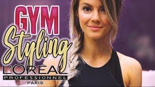 FITNESS STYLING 💥 Schnelle Frisur nach dem Sport ohne Haare waschen | LOREAL Pro Favoriten