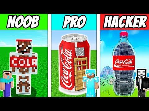 Minecraft - NOOB vs PRO vs HACKER : COCA COLA HOUSE in Minecraft ! Animation thumbnail