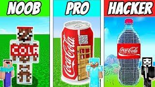 Minecraft - NOOB vs PRO vs HACKER : COCA COLA HOUSE in Minecraft ! Animation