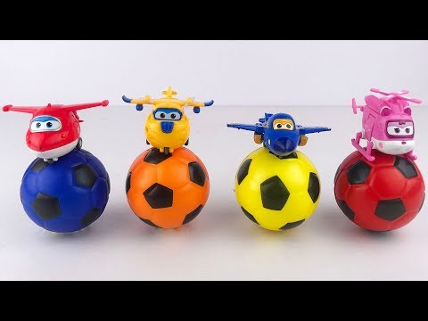 [출동 슈퍼윙스/Super Wings] Learn color with Super Wings and Soccer Balls for Kids