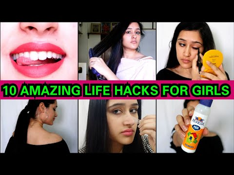 10 DIFFERENT HACKS FOR SCHOOL/ COLLEGE/ OFFICE GIRLS | That GlamGirl