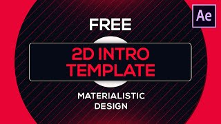 FREE 2D Intro Template for After Effects