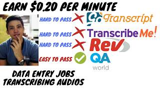 BEST TRANSCRIPTION JOB AT HOME 2019(Easy to pass than GoTranscript, TranscribeMe and Rev)