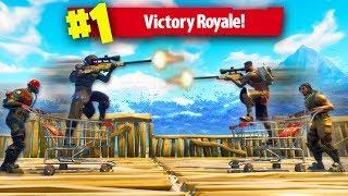 ROLLERCOASTER SNIPER SHOOTOUT! *IMPOSSIBLE!* | Fortnite Battle Royale Custom Games