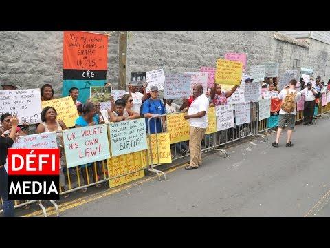 Le Groupe Refugiés Chagos devant la Haute Commission Britannique