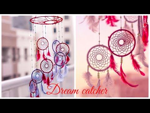 DIY Mobile Chandelier Dream Catcher|| How To Make Dream Catcher Step by step Tutorial||