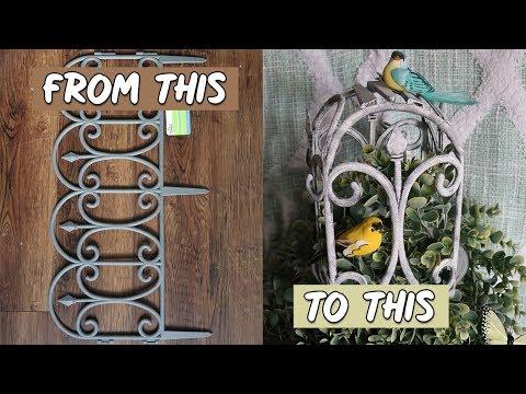 DOLLAR TREE DIY SHABBY CHIC FARMHOUSE BIRDCAGE 💲😲🐦