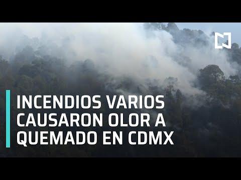 Incendios diversos provocaron olor a quemado en la Ciudad de México - Las Noticias