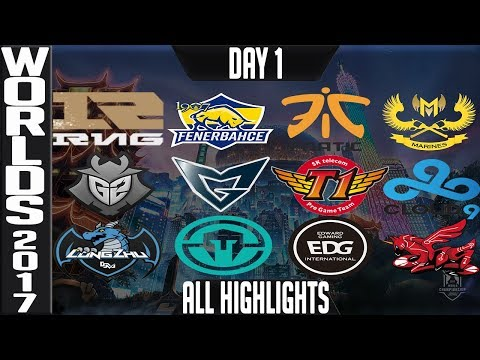Worlds 2017 Highlights ALL GAMES Day 1 Groups - ALL Kills & Objectives Day 1 Worlds 2017 Highlights