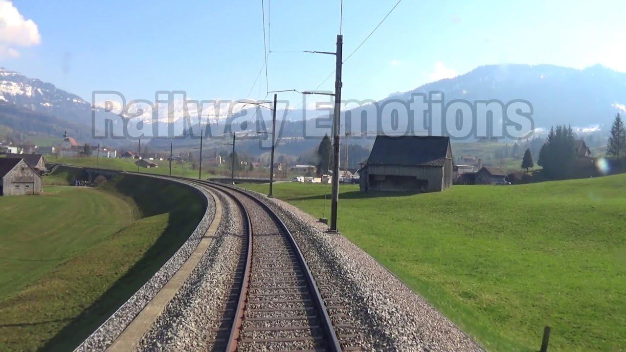 🚆 Cab ride into beautiful Obertoggenburg (Switzerland   Thurbo S2 Altstätten SG - Nesslau-N. St. J.)