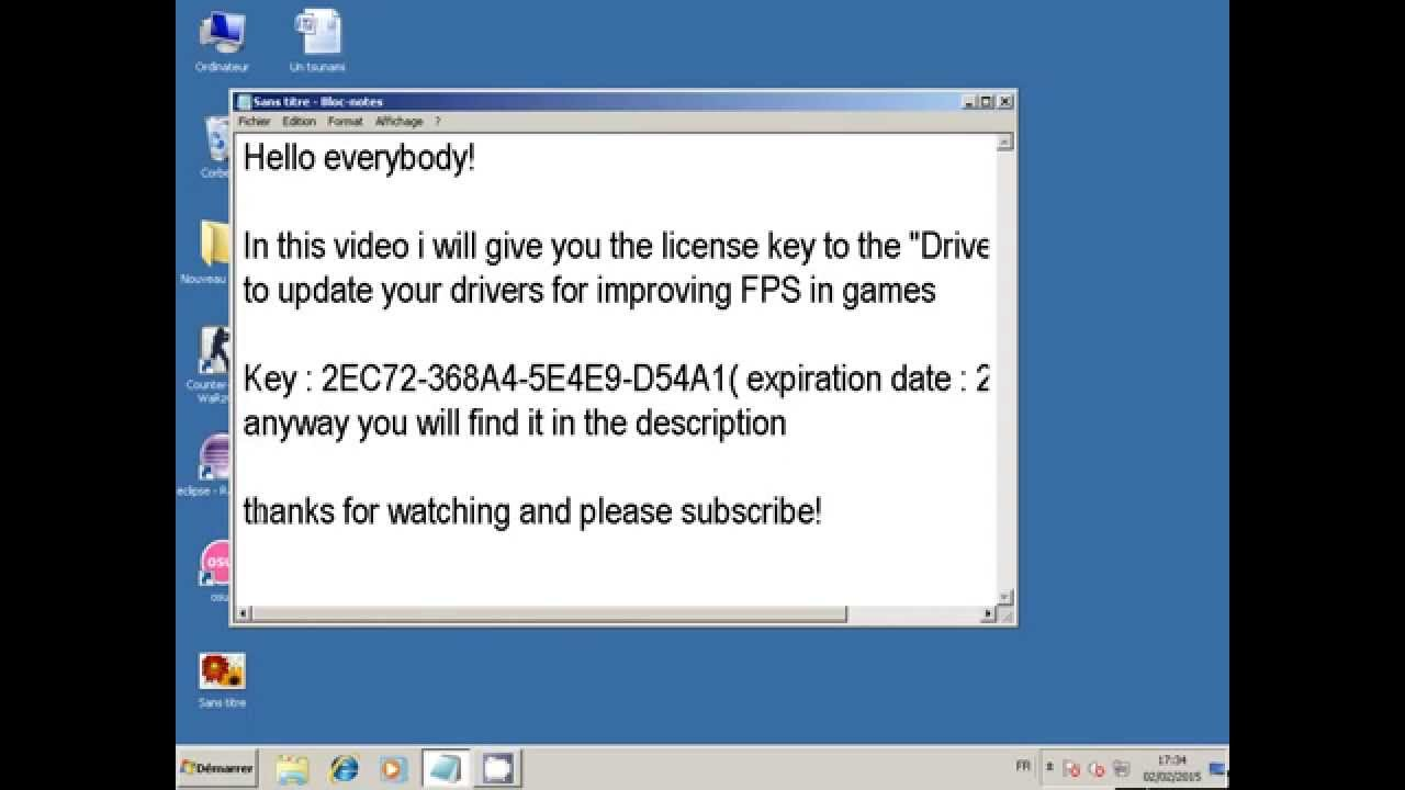 Driver booster 2 license key - YouTube