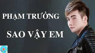 Sao vậy em - Phạm Trưởng (Lyric) - Nhạc mới nhất 2019
