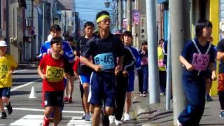 快晴のなか第30回遠別町ふれあいマラソンが10時にスタートしました...