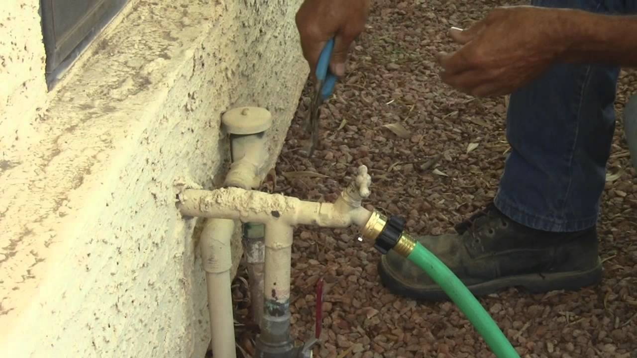 How To Turn Off A Backflow Preventer By Hawkeye