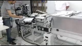 Lusso  banmakser  klm serisi döner tablası yarı otomatik serigrafi  makinesi