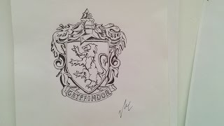 Gryffindor Emblem - Speed Drawing