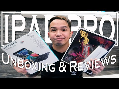 New ipad Pro 2018 12.9 inch I Apple Pencil 2.0 & Logitech Slim Folio Keyboard Unboxing & Reviews