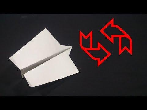 Cara Membuat Pesawat Kertas Boomerang - terbang Putar Balik .Ver 53