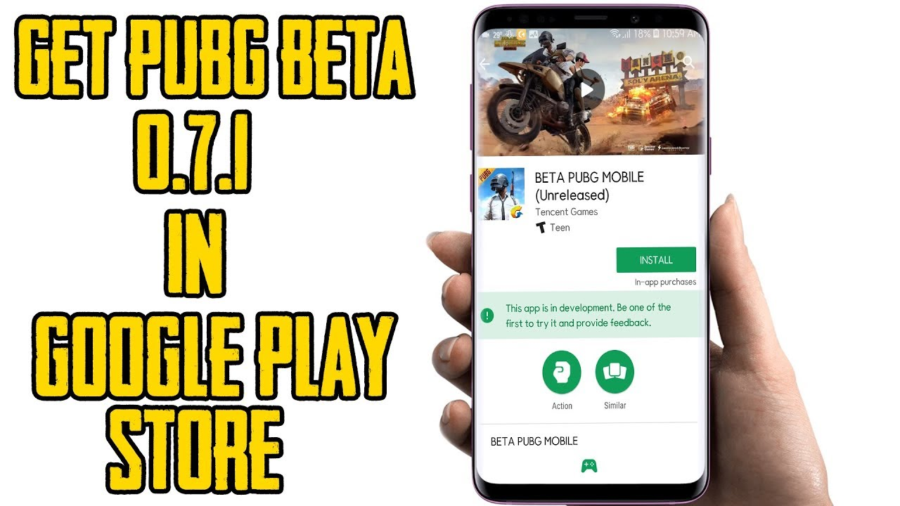 Official Pubg Mobile Beta 0 7 0 Available On Google Play Store: BETA PUBG MOBILE 0.7.1 ON GOOGLE PLAY-STORE