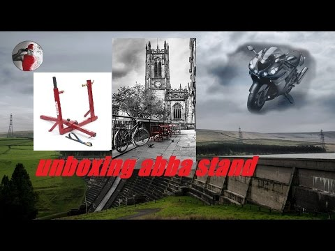 ZZR1400 zx14r unboxing abba stand lift superbike pacage 2