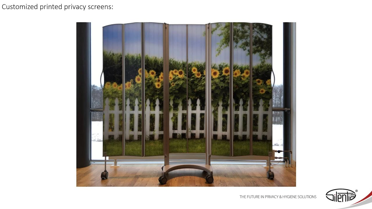 customized printed privacy screens by silentia youtube
