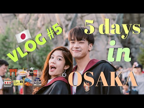 VLOG #5 Yess!!! Spend 5 days in OSAKA, What to do, Where to go | Alrisaa