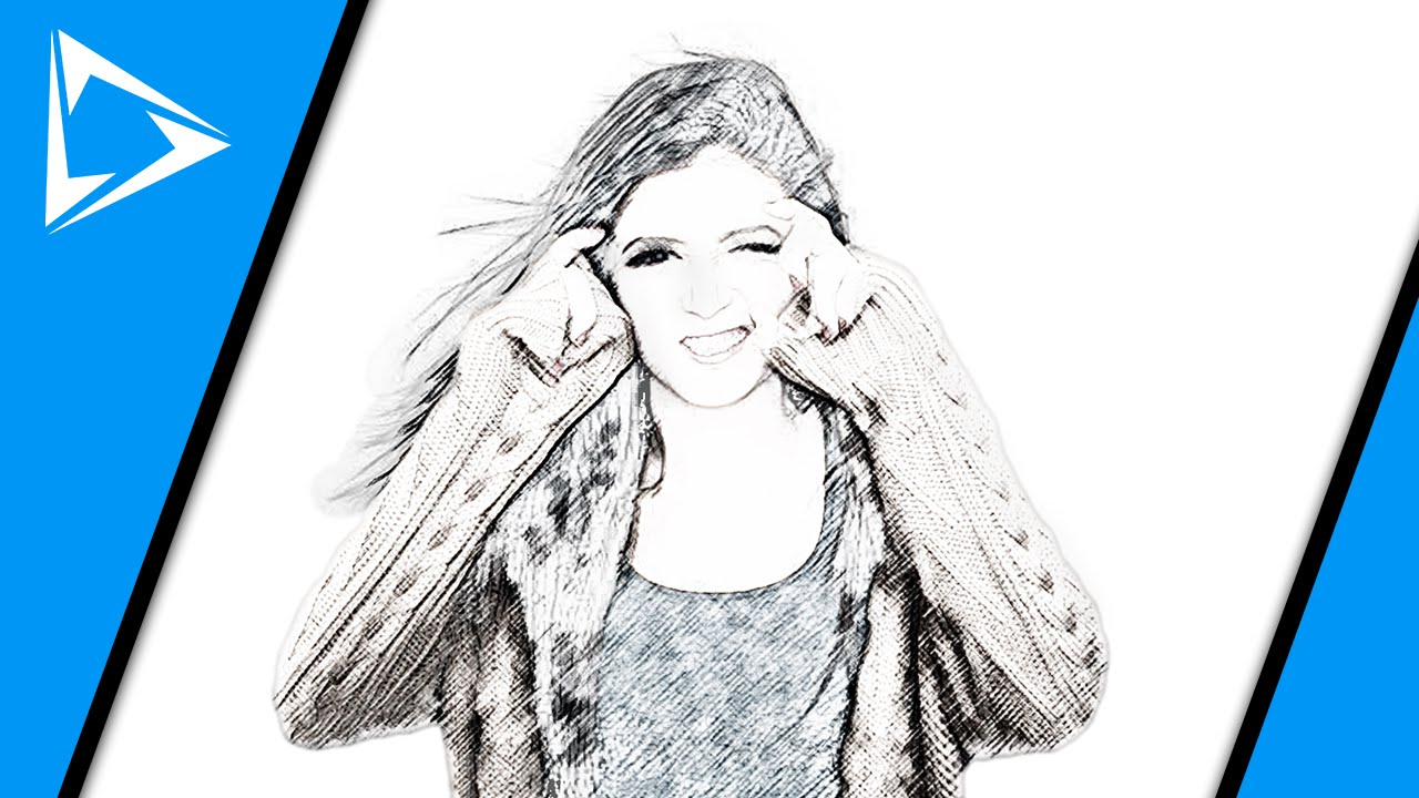 Make a pencil sketch from a portrait in photoshop