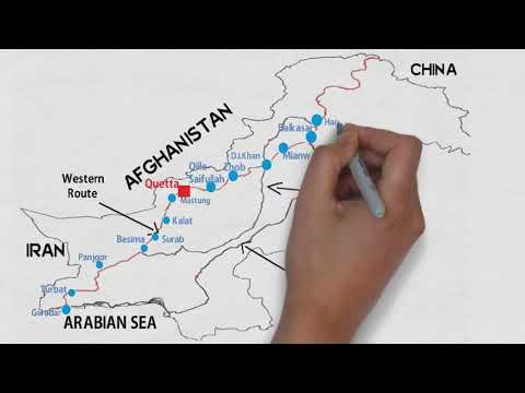 CPEC Routes And Connected Cities (China Pakistan Economic Corridor)