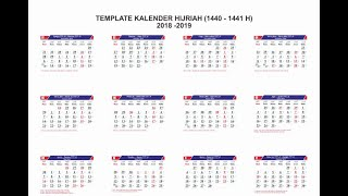 Gambar cover Download Kalender 1440 Hijriah Tahun 2019