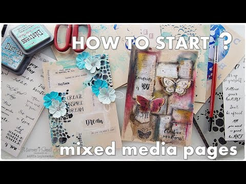 How to START Mixed Media Pages ♡ Break A Blank Page part8 ♡ Maremi's Small Art ♡