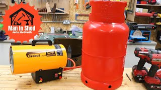 Heating Your Workshop For Winter. Sip FireBall 512 My New Shop Heater