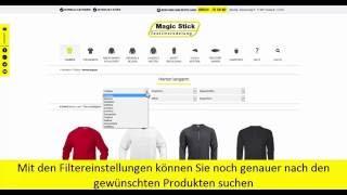 Navigationsvideo von stickbymagic.de