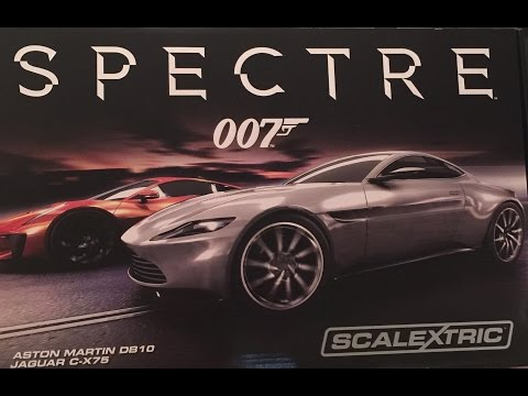 Spectre JAMES BOND  007 review .Scalextric set C1336.  Looking at toys exclusive review