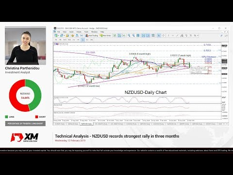 Technical Analysis: 13/02/2019 - NZDUSD records strongest rally in three months