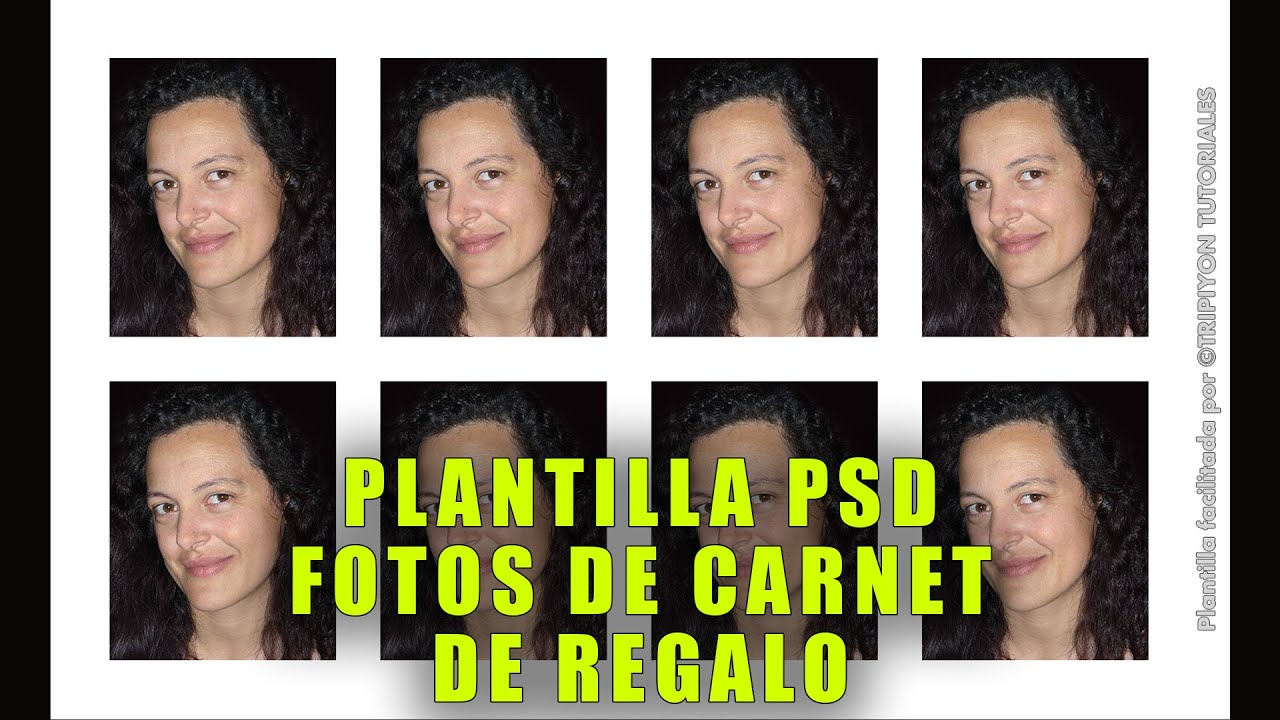 Plantilla PSD de regalo para fotos de carnet - Photoshop - YouTube