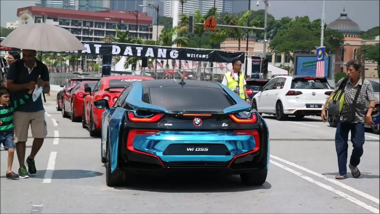Kl Supercar Drag Race Bmw I8 Gtr 458 Italia Revving Overview