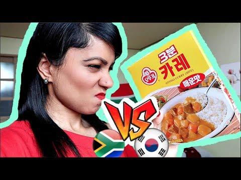 REAL Indian tries Korean CURRY || SamSamVlogs 026