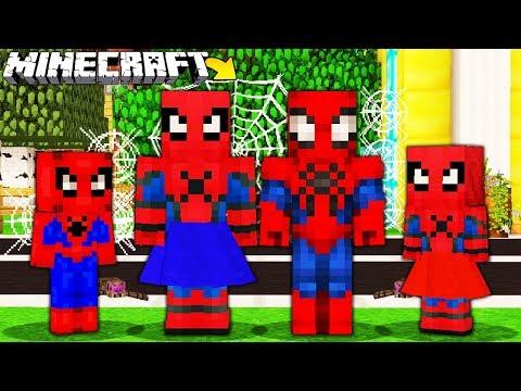 RODZINA SPIDER-MANÓW W MINECRAFT || MINECRAFT RODZINA thumbnail