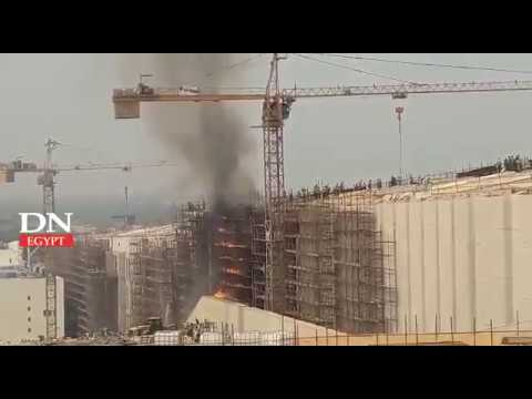 Fire erupts at Grand Egyptian Museum in Giza, which is yet under construction