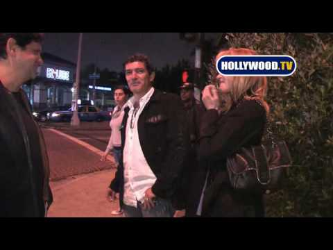 Melanie Griffith And Antonio Banderas Have Dinner Together
