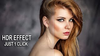 1-Minute Photoshop | HDR Effect In Photoshop