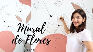 Pintando un Mural de Flores 🌷