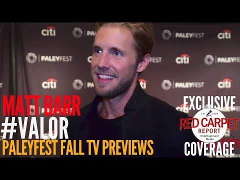 Matt Barr #Valor interviewed at the CW series 'Valor' preview at PaleyFest