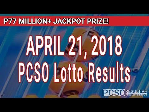 PCSO Lotto Results Today April 21, 2018 (6/55, 6/42, 6D, Swertres, STL & EZ2)