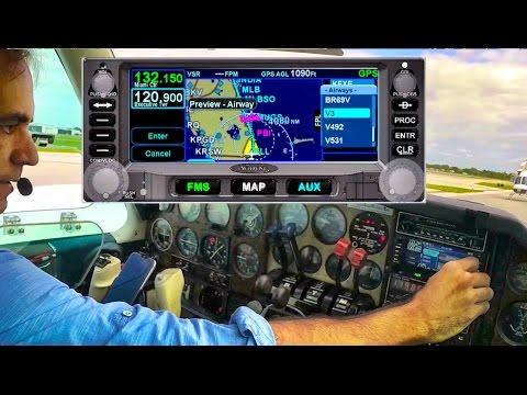 "IFR Flight VLOG ""Hand Flying"" with ATC & Avidyne IFD Flight Plan Entry Beechcraft Baron"